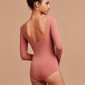 Aritzia Wilfred Free Koopman Long Sleeve Bodysuit
